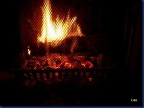 foyer de la cheminée qui nous a bien réchauffées et fait rêver!